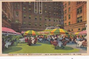 Illinois Chicago Jacques French Restaurant Summer Garden Curteich