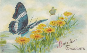 Butterfly & Yellow Flowers , 00-10s