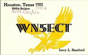 QSL Radio Card From Houston Texas WN5ECT