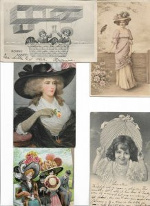 Beautiful Art Nouveau And Other Theme Lot of 10 Postcards 01.11