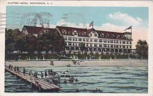 New York Patchogue Clifton Hotel 1928