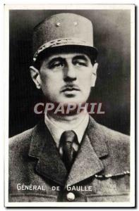 Gaulle Old Postcard Army General of