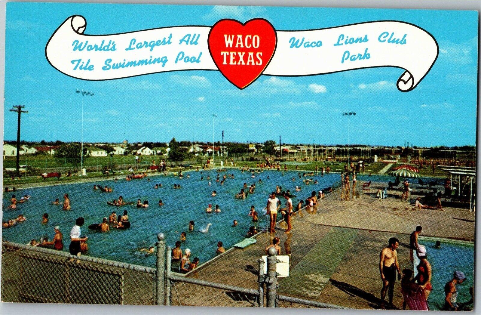 Waco Lions Club Park Texas Swimming Pool Vintage