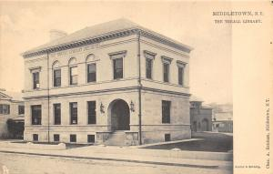 Middletown New York~The Thrall Library~House Next Door~Building Behind~1905 TUCK