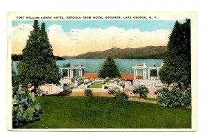 NY - Lake George. Fort William Henry Hotel Pergola