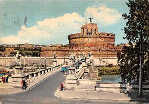 Italy Old Vintage Antique Post Card Sant'Angelo Castle Roma 1961