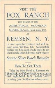 Remsen, NY, USA Postcard Post Card Rox Ranch