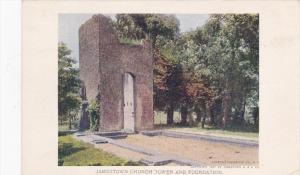 NORFOLK, Virginia; Jamesrown Church Tower and Foundation, Jamestown Expositio...