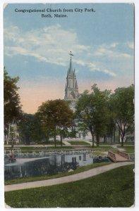 Bath, Maine, Congregational Church from City Park