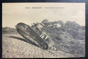 Mint France Real Picture Postcard Pre WW2 Besancon Tank Climb