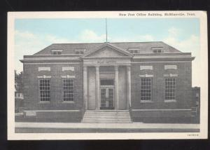 MCMINNVILLE TENNESSEE UNITED STATES POST OFFICE BUILDING VINTAGE POSTCARD