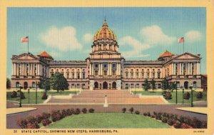 Postcard State Capitol Harrisburg Pennsylvania
