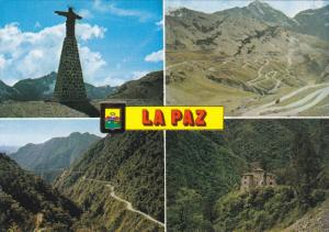 Multi- View, Way Leading to the Entry of the Yungas, LA PAZ, Bolivia, PU-1980