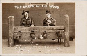The Babes In The Wood Men Locked up Bamforth RPPC Postcard F95