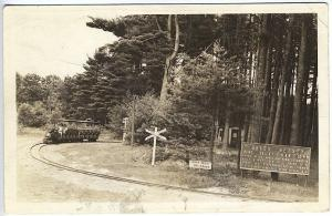 Keene NH Brass Betsey Miniature Train Built in 1927 RPPC Real Photo Postcard