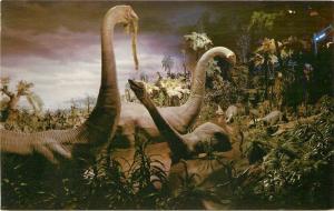Amusement Anaheim California 1950s Disneyland Brontosaur Primeval Dinosaur 3047