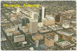 Phoenix, Arizona, aerial view, unused Postcard