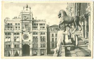 Italy, Venice, Venezia, The Bronze Horses, early 1900s