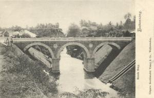 indonesia, JAVA BUITENZORG, Red Bridge (1899)