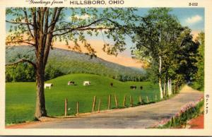 Ohio Greetings From Hillsboro Curteich