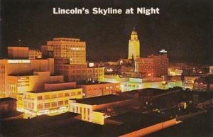 Nebraska Greetings From Lincoln Skyline At Night