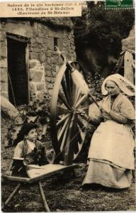 CPA Scénes de la vie bretonne-Filandiere a St-Julien (231253)