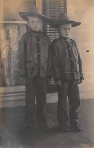 2 Young boys with hats Child, People Photo Unused