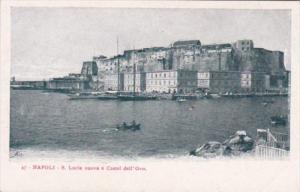 Italy Napoli Santa Lucia nuova e Castel dell' Ovo