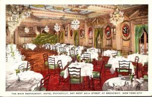 New York City Hotel Piccadilly Main Restaurant