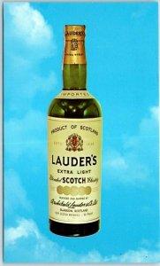 Vintage LAUDER'S Blended Scotch Whisky Advertising Postcard c1960s Chrome Unused