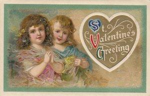 John Winsch 1910 , VALENTINE ; Two Children