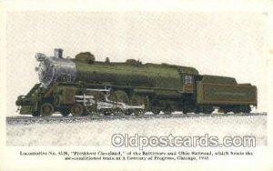 President Cleveland, Chicago, IL USA Train, Trains, Locomotive  Unused