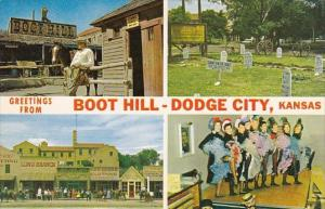 Kansas Dodge City Greetings From Boot Hill