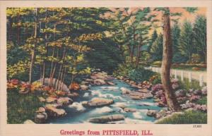 Illinois Greetings From Pittsfield 1951