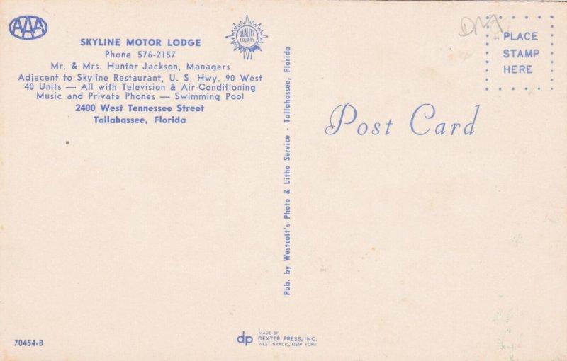 TALLAHASSEE , Florida , 50-60s ; Skyline Motor Lodge