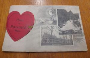 Pittsfield Massachusetts Multiview Novelty Fold Out Antique Postcard J62829