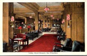 California San Francisco Hotel Stewart Lobby