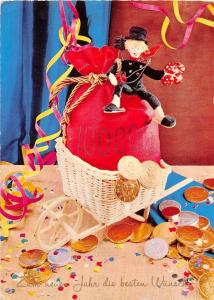 <A13> CHIMNEY SWEEP Postcard Good Luck New Years 1971 Austria Continental Size22