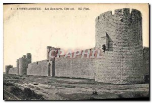 Old Postcard Acute Dead Remparts Cote is