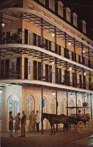 Louisiana New Orleans Lace Balconies At Night