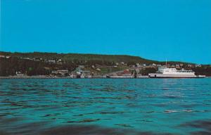 Trans-St-Laurent,  Ferry line approaching St. Simeon Wharf,  Quebec,  Canada,...