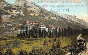 br105957 banff springs hotel and mount rundle banff alba canada