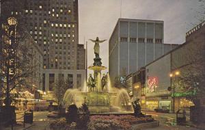 Flowers, Tyler-Davidson Fountain, Genius of Water by August Van Kreyling, F...