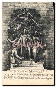 Old Postcard Paris Arc de Triomphe Etoile Triumph 1810 by Cortot
