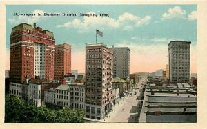 TN, Memphis, Tennessee, Business District, Skyscrapers, Coovert No. 7490