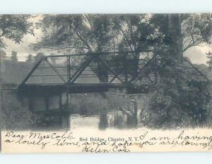 Pre-1907 BRIDGE Chester - Near Woodbury & Middletown New York NY A3358
