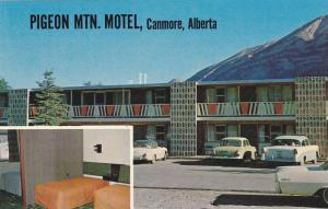 Interior Room, Exterior View of Pigeon Mountain Motel, Canmore, Alberta, Cana...