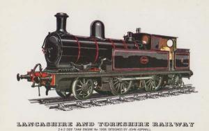 Lancashire & Yorkshire Railway Tank Engine John Aspinall 2-4-2 Train Postcard