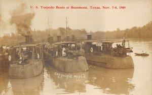 LP30  Torpedo Boats Beaumont Texas Vintage Postcard RPPC Real Photo