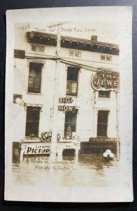Mint USA RPPC Postcard Dayton Ohio High Waters On Jefferson Street 1913